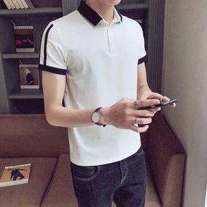 t shirt super fire CEC men's brand loose polo shirt ins trend handsome short sleeve T-shirt