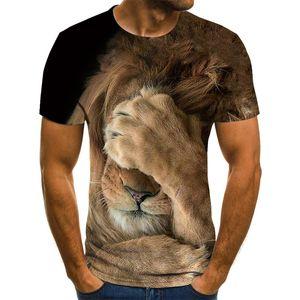 2021 Sommer Neue Stil 3D Druck Löwe Herren und Womens Casual T-Shirt Mode Trend Junges hübsches T-Shirt topsoccer jersey