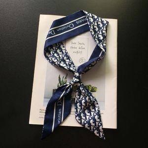 Same Net Red Spring and Summer d Family Letter Silk Korean Small Scarf Bandage Bag Versatile Long Ribbon 1QBH