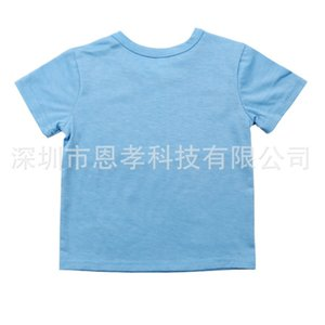 Summer Heat Transfer Baby T-shirt Blank Thermal Transfer Printing Short Sleeve Kids Boys and Grils Round Neck Tops Tee Clothing H917XV75