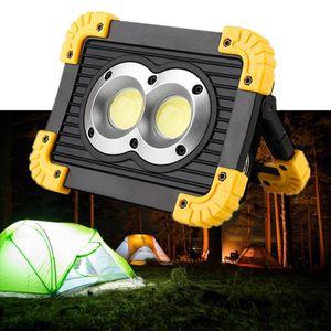 Flood Light USB Rechargeable COB Portable Lantern 18650 Battery Powered Led Spotlight Outdoor Camping Tent Power Bank Floodlights