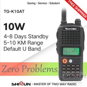 Walkie Talkie 10W QuanSheng TG-K10AT 10km TG K10AT Radio Comunicador 10 Km UHF400-470MHz Optional VHF Band Two-way 4000mAh