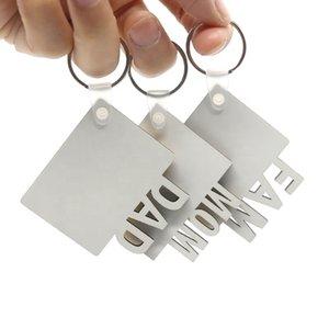 승화 열쇠 고리 엄마 아빠 fam 사랑 졸업생 키 체인 아버지의 어머니의 날 선물 파티 호의 빈 MDF 사용자 정의 키 반지