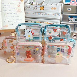 Your House Clear Coin Change, PVC Purse Bag For Carrying Transparent Zipper Items Clutch Keys Other And Small Fxlko