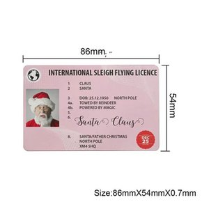 Fast delivery Christmas Gift Santa Greeting Cards 86*54mm Claus Funny Driver's License Card OWD10398