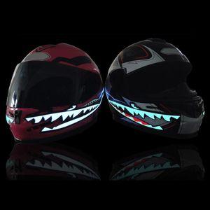 Motorcycle Helmets Motorhelm El Koud Licht Mod Kit Knipperende Streep Lichtgevende Signaal Sticker Led Night Rijden Lichten Bike Helm Lamp B