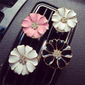 Car Perfume Clip Home Essential Oil Diffuser For Car Outlet Locket Clips Flower Auto Air Freshener Conditioning Vent Clip RRD8189