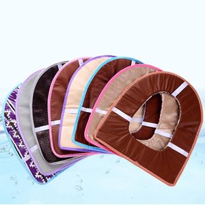 Wholesale Eco-Friendly Cover Pad Cushion Bathroom Accessories Winter Washable Washroom Toilet Seat Cover Soft Warmer Mat Flannel DH0462