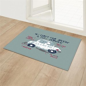 Carpets 40x60cm Christmas Doormat Kitchen Mat Santa Claus Non-Slip Rug Decoration For Home Happy Year Xmas Ornaments Gifts