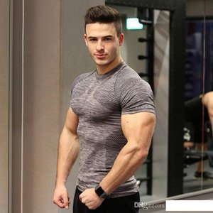 Brand Short Sleeve Men's Quick Drying Clothes Spmens gym clothes Tight Basketball Training Fitness Wear T-Shirt Wholesale