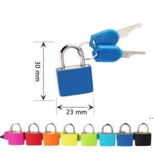 30x23mm Small Mini Strong Metal Padlock Travel Suitcase Diary Book Lock With 2 Keys Security Luggage Padlock Decoration Many Colors DHD5587