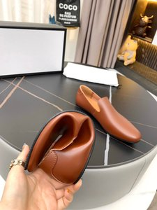 Top quality men sgommino shoes genuine leather Slip-on casual fashion simple classics breathable black brown lazy overshoes mens business shoe with box 38-44