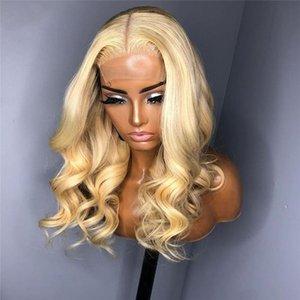 금발의 인간의 머리 가발 바디 웨이브 실크베이스 레미 자연의 hairline 5 * 5 pu preplucked 여성 레이스 가발