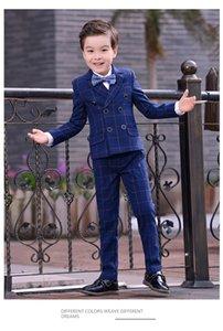 Suits 2021 Formal Boys Kids Fashion Europe Style Coat Leisure Suit Blue Cotton Slim Outerwear Boy Jacket Wedding Party