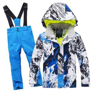 Pants Kids Winter Ski Suit Windproof Waterproof Children Outdoor Warm Sport Girls Boy Snow Set Jacket Skiing