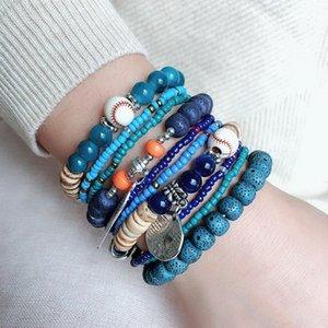 Obsidian Stone Beads Bracelet Men Women Unisex Wristband Gold Black Wealth And Good Luck Tibetan Buddha Beaded, Strands