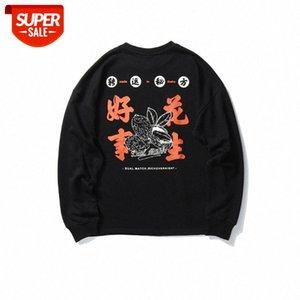 Estilo chinês primavera e outono Novas coisas boas coisas amendoim cintura camisola homem na moda marca solta casual selvagem redondo pescoço de pulôver top tren # rk2e