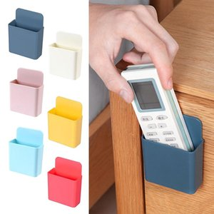Wall Mounted Organizer Cell Phone Storage Box Remote Control Air Conditioner Stand Toothbrush Holder Home Kitchen & Organization