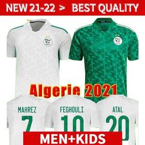Hayranlar oyuncu versiyonu Cezayir 2021 eve uzakta futbol formaları 21 22 mahrez Feghouli Bennacer Atal 20 21 Cezayir Futbol takımları gömlek erkekler + çocuklar s