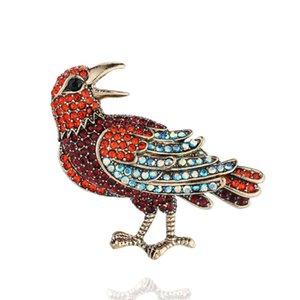 Новые продукты Продают хорошо Высококачественный сплав Inlaid Diamond Bird Brouch Милые животные голубя Брошь