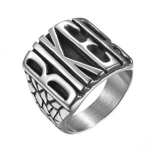 Road Bike Punk Ring Titanium Steel Polished Biker Rider Men's Ring5try
