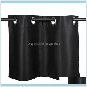 Deco El Supplies Gardenpure Color Sun Proof Shade Screen Purdah Short Curtain Valance For Kitchen Balcony Home 74X46Cm (Black) & Drapes Drop