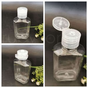 60ml Octagonal Empty Hand Sanitizer Bottles Separate Bottling PET Flip Cap Extrusion Bottles Travel Portable Clear Squeezed Bottle RRA4235