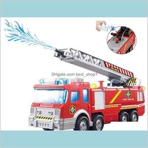 Spray Water Gun Toy Truck Firetruck Juguetes Fireman Sam Fire Truck Engine Vehicle Car Music Light Educational Toys For Boy Kids L2Bzv