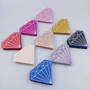 10 30 50 Boxes Wholesale Color Diamond Box False Eyelashes 3D Mink Magnetic Lashes Case Empty Free Logo