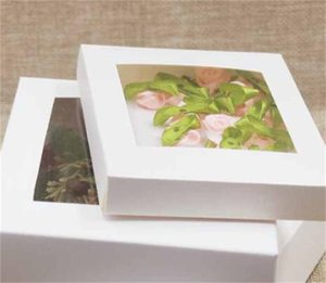 패키지 상자 창 흰색 검은 크래프트 종이 상자 PVC 창 결혼 생일 선물 패키지 OK 177 v2