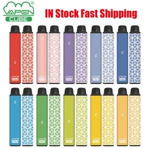Authentic VAPEN CUBE Disposable Device Pods Kit E-cigarette 1600 Puffs 650mAh Battery 5.5ml Prefilled Cartridge Pod Vape Pen Vs Bar Plus XXL Kits 100% Genuine