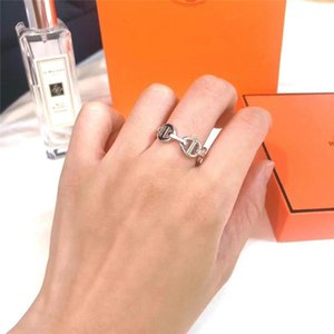 2021Fashion gold sliver love band rings bague for lady women Party wedding lovers gift engagement silver smart charm Hb_jewelry With BOX