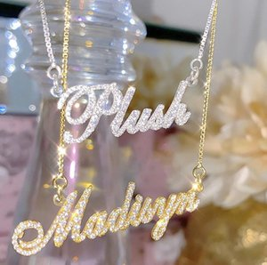 2021 Name Jewelry Stainls Steel Custom Personalized Handwriting Name Necklace Minimalist Vertical Signature Necklace