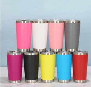 16 Colors 20oz Tumblers Stainless Steel Vacuum Insulated Double Wall Wine Glass Thermal Cup Coffee Beer Mug With Lids For Travel