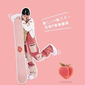 Winter Snowboard Beginner gear Peach ski Pink Cherry Training Snowboarding Custom Single skis Double Board