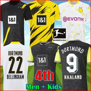 BVB Borussia Dortmund 1990 Maglia da calcio in edizione limitata HAALAND REUS 21 22 4th dortmund 2021 maglie da calcio BELLINGHAM SANCHO HUMMELS BRANDT PLSZCZEK kit da uomo per