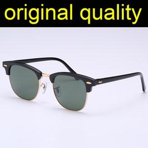 Top Qualität 3016 Sonnenbrille Herren Frauen Echte Glaslinsen Acetatrahmen Sonnenbrille Männer Frauen Glas Linsen Oculos de Sol