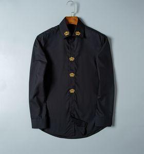 Mens Dress Shirts embroidery Fashion Casual T Shirt high quality Brands Men Spring Autumn Slim Fit POLO chemises de marque pour hommes