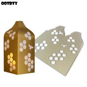 Painting Supplies Hexagon Lantern Metal Cutting Dies Stencil Scrapbooking DIY Stamp Paper Cards Embossing Decor Craft Art For 2021