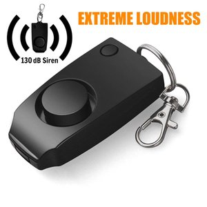 Personal Handy Alarm 130dB Safety Device Keychain USB Rechargeable Emergency Attack Anti-rape Self-defense Devices