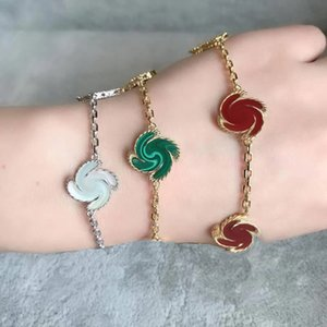5 Colors Fashion Classic 4 Four Leaf Clover Charm Bracelets Bangle Chain 18K Gold Agate Shell Mother-of-Pearl for Women&Girls Wedding Mother's Day Jewelry Women alter