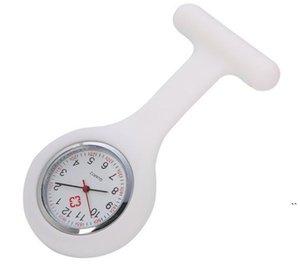 Рождественский подарок медсестра Медицинские часы Силиконовые клипы Карманные часы Мода медсестра Брошь FOB TOB TUNIC COVER Доктор кремниевые кварцевые часы OWC6908