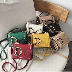 Fashion Letter Shoulder Bags Women Girls Handbag Rivet Designer PU Leather Crossbody Messager Bag Luxurys Handbags Outdoor Phone Pouch Purse 7 Colors