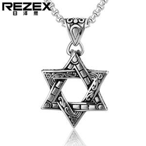 Ожерелье Иудаизм Подвеска Вселенная Личность Мужская и женская гексаграмма Звезда Титановый сталь Ожерелье He002