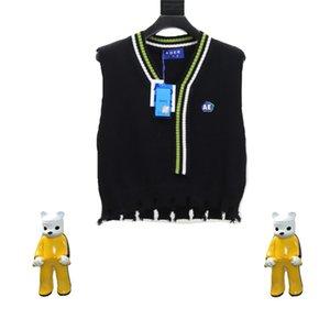 2021SS Pullover Sweatshirts Männer Frauen V-Ausschnitt Strickweite Weste Crewneck