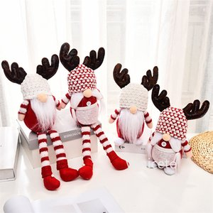 Christmas-Party Favor Xmas-antler Faceless Doll Christmas Rudolph Long legged dolls Xmas Window dwarf-doll Decorations ornaments T9I001462