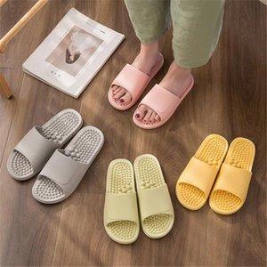 Sandalias de masaje para pies Parejas para mujer Parejas para el hogar Cuarto de interior Baño antideslizante Zapatillas de abajo suaves para mujer / Hombres Pedicura zapatos 36-45