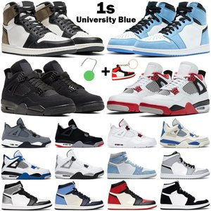 Tênis de basquete 1s de altura OG masculino feminino jumpman 1 mid Light Grey Smoke Black Metallic Gold Obsidian 4s Fire Red Cat tênis masculino