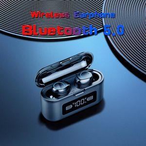 Wireless Bluetooth Earphone 5.0 TWS Headset LED Display With 2000mAh Power Bank Microphone Headphones & Earphones