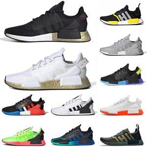adidas nmd r1 v2 Yüksek Kalite İnsan NMD R1 V2 Tenis Erkek Kadın Koşucular Ayakkabı Metalik Altın Gri Gümüş Thunder Bred Japonya Siyah Açık Spor Sneakers 36-45